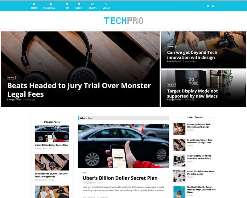 magplus tech news blog theme